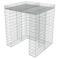 vidaXL Gabion for søppeldunkskur galvanisert stål 110x100x130 cm