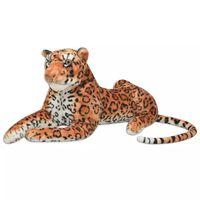 vidaXL Leopardleke Plysj Brun XXL