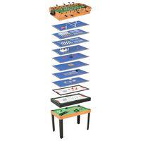 vidaXL Multi-spillbord 15-i-1 121x61x82 cm lønnetre