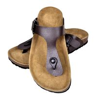 vidaXL Biokork sandaler kvinner flippflopp-design brun størrelse 41