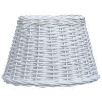 vidaXL Lampeskjerm flettekurv 38x23 cm hvit