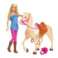 Barbiedukke og hest