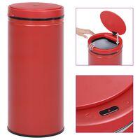 vidaXL Automatisk søppelbøtte med sensor 80 L karbonstål rød