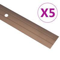 vidaXL Gulvprofiler 5 stk aluminium 90 cm brun