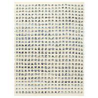 vidaXL Teppe denim ull 120x170 cm blå/hvit