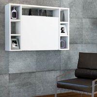 Homemania Veggmontert klaffebord Omega 90x19,5x60 cm hvit
