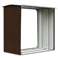 vidaXL Vedskjul galvanisert stål 172x91x154 cm brun
