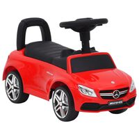 vidaXL Gåbil Mercedes-Benz C63 rød