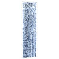 vidaXL Insektgardin 56x185 cm blå, hvit og sølv