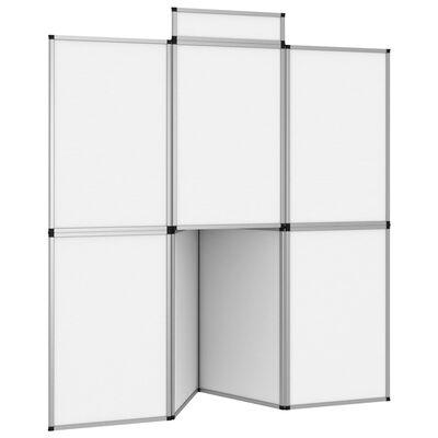 vidaXL Utstillingsvegg 8 paneler sammenleggbar med bord 181x200cm hvit