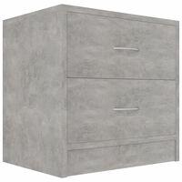 vidaXL Nattbord betonggrå 40x30x40 cm sponplate