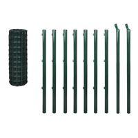 vidaXL Euro gjerde stål 10x1,5 m grønn