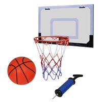 vidaXL Innendørs basketballsett med kurv, ball og pumpe
