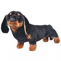vidaXL Stående lekehund dachshund plysj svart XXL