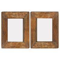 vidaXL Fotorammer 2 stk 23x28 cm gjenvunnet heltre og glass