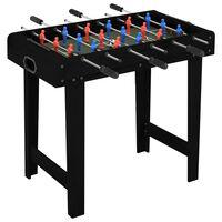 vidaXL Fotballbord mini 69x37x62 cm svart