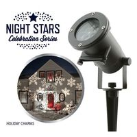 Night Stars LED Lys Holiday Charms 6 mønster 12 W NIS004