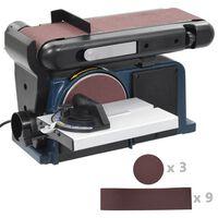vidaXL Belte- og skivesliper 370 W 150 mm