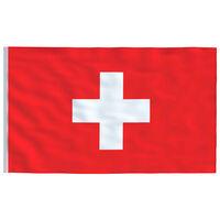 vidaXL Sveitsisk flagg 90x150 cm