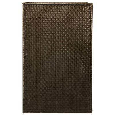 vidaXL Søppeldunkskur enkelt polyrotting 76x78x120 cm brun