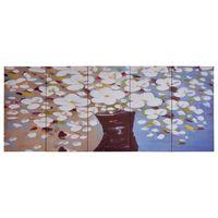 vidaXL Lerretsbilde blomster i vase flerfarget 150x60 cm