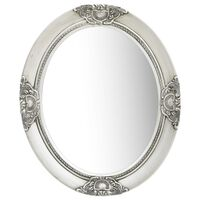 vidaXL Veggspeil barokkstil 50x60 cm sølv