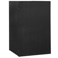 vidaXL Søppeldunkskur enkelt svart 76x78x120 cm polyrotting