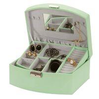 Smykkeskrin i Kunstskinn, Pastellgrønn - Darcy