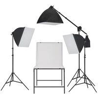vidaXL Fotostudiosett softboks fotolys med fotobord