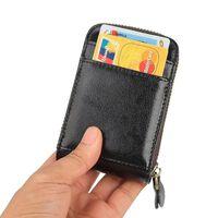 RFID-kortholder - ekte skinn - svart