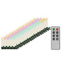 vidaXL Trådløse LED-julestearinlys med fjernkontroll 100 stk RGB