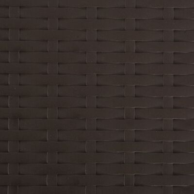 vidaXL Sammenleggbare hagestoler 4 stk HDPE og stål brun