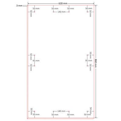 vidaXL Oppslagstavle DIN A1 10 stk HDF 860x620x3 mm,