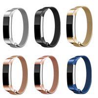 Milanese loop armband kompatibelt med Fitbit Alta HR - Svart