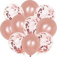 Festballonger Med Konfetti 30-pk Rosa