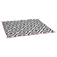 Bo-Camp Uteteppe Chill mat Picnic 2x1,8 m svart og hvit
