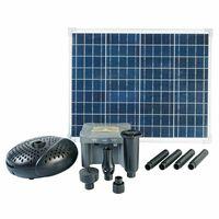 Ubbink SolarMax 2500 sett med solpanel, pumpe og batteri