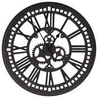 vidaXL Veggklokke svart 70 cm MDF