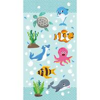 Good Morning Strandhåndkle SEAWORLD 75x150 cm havblå