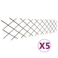 vidaXL Espaliergjerder selje 5 stk 180x60 cm