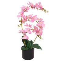vidaXL Kunstig orkidè med potte 65 cm rosa