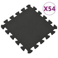 vidaXL Gulvmatter 54 stk 4,86 ㎡ EVA-skum svart