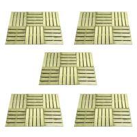 vidaXL Terrassebord 30 stk 50x50 cm tre grønn