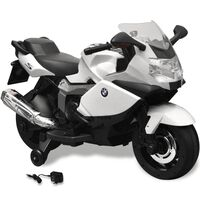 Hvit BMW 283 El-motorsykkel for Barn 6 V