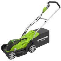 Greenworks Gressklipper med 2x40 V 2 Ah batteri G40LM35 2501907UC