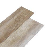 vidaXL PVC gulvplanker 5,26 m² 2 mm vasket tre
