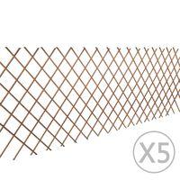 vidaXL Espaliergjerde selje 5 stk 180x90 cm