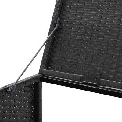 vidaXL Søppeldunkskur trippel svart 229x78x120 cm polyrotting