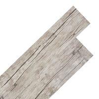 vidaXL Selvklebende PVC gulvplanker 5,02 m² 2 mm vasket eik