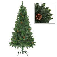 vidaXL Kunstig juletre med furukongler grønn 150 cm
